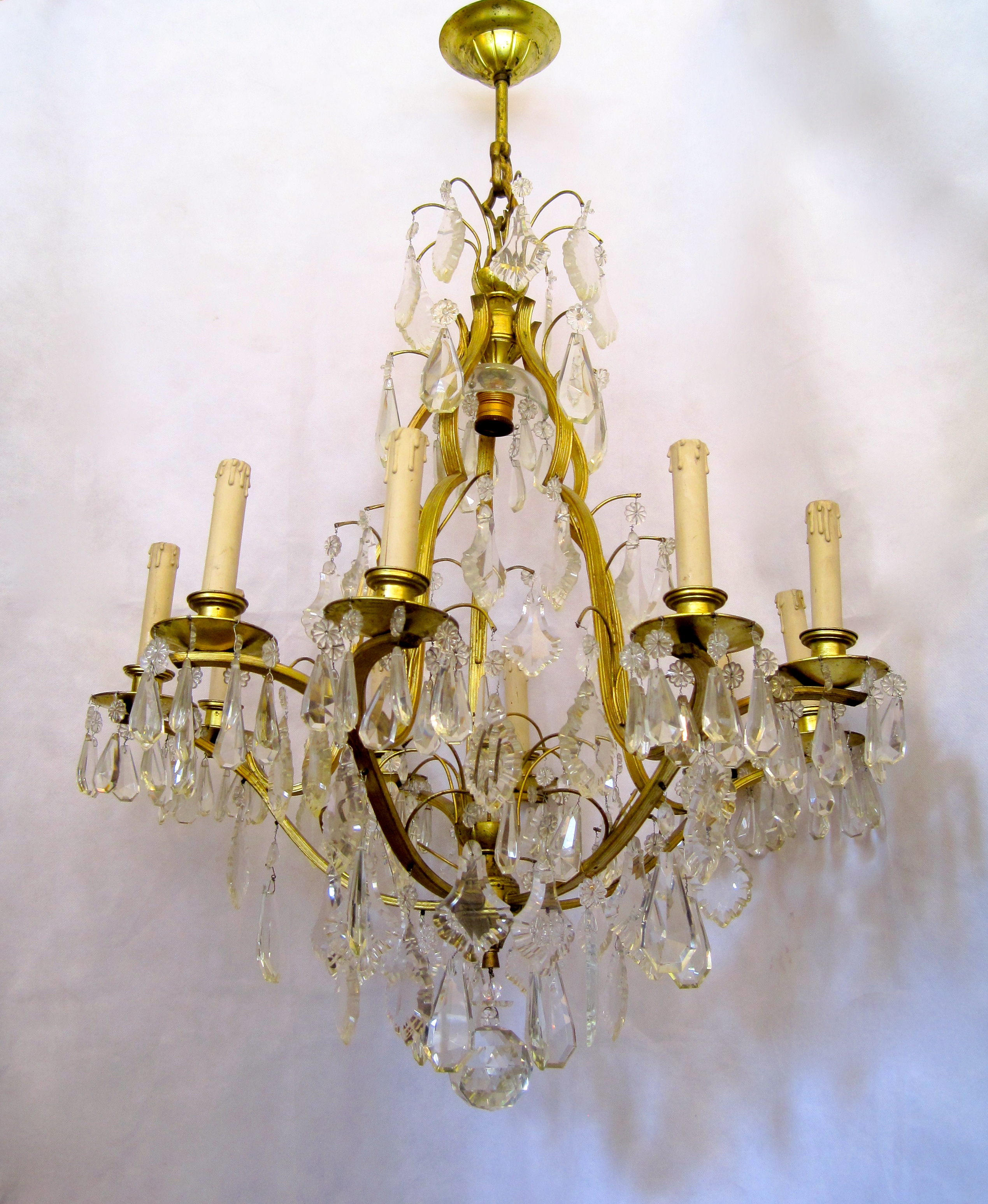 French crystal chandelier early 1920s retouch lighting chandelier early 1920s light arubaitofo Image collections